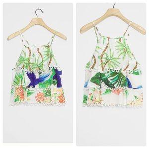 Anthropologie farm rio amaia tiered blouse